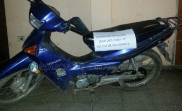 En Los Altos secuestran una motocicleta requerida por la Justicia de la Provincia de Tucumán