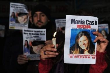 Amplían a 700.000 pesos la recompensa por datos para hallar a María Cash