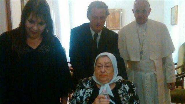 Bonafini le pidió perdón al Papa por sus dichos: