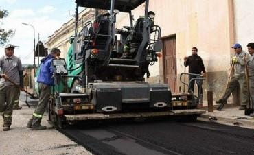 Iniciaron el asfaltado en Valle Viejo
