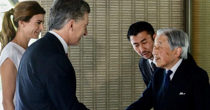 Macri cerró su gira por Asía con el emperador japonés