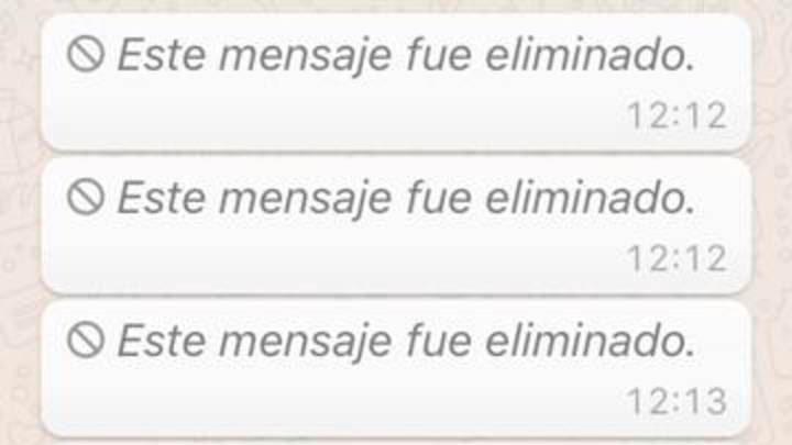 Mirá este truco te permitirá leer los mensajes eliminados de WhatsApp