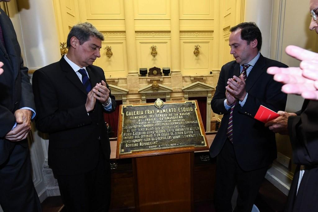 Homenaje a Fray Mamerto Esquiu en el  Senado de la Nación