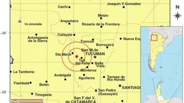 Temblor en Tucumán se sintió en Catamarca