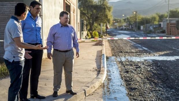Iniciaron los trabajos de pavimentación en el barrio Centenario