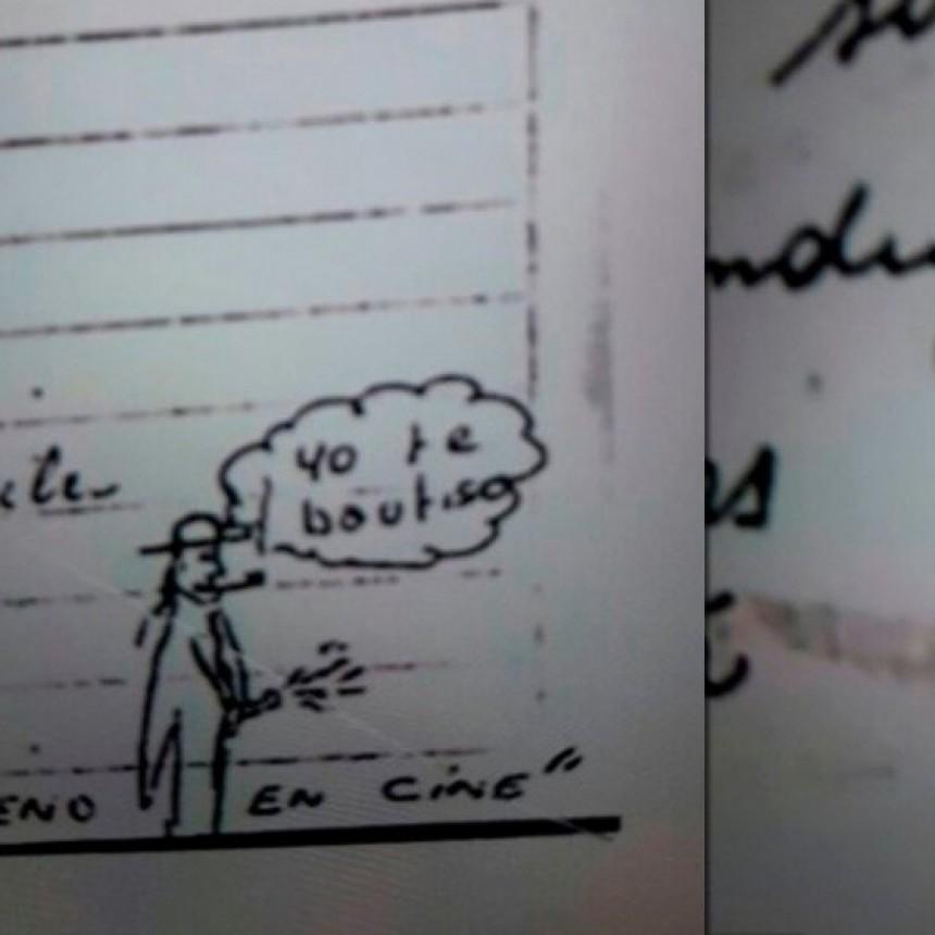 Cartas de un cura acusado de abuso: dibujos fálicos y textos perversos