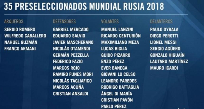 Jorge Sampaoli presentó la lista de 35 convocados de la selección argentina para el Mundial Rusia 2018