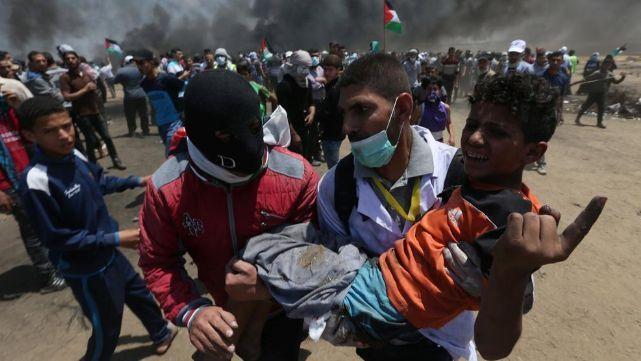Masacre en la Franja de Gaza: 37 palestinos muertos y 1700 heridos