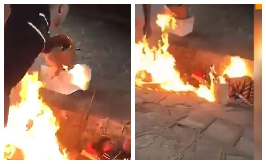 Pedazo de rastrero: prendieron fuego a dos hombres en situación de calle, filmaron el ataque y huyeron