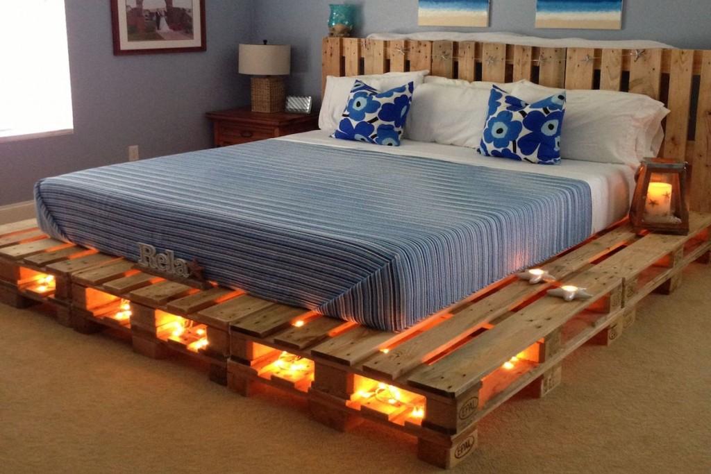 10 camas hechas de palets o tarimas que probablemente desees