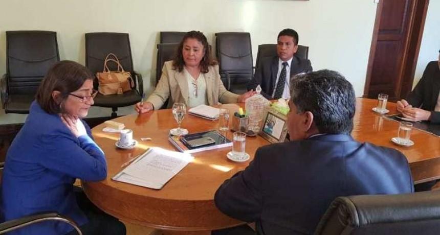 Corpacci recibió al intendente Ríos y a funcionarios municipales