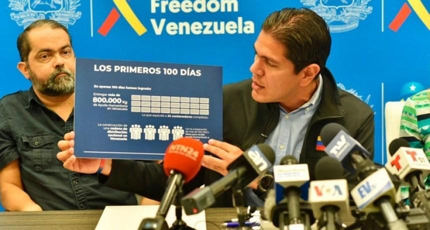 El gobierno interino de Juan Guaidó logró ingresar a Venezuela 800 toneladas de ayuda humanitaria