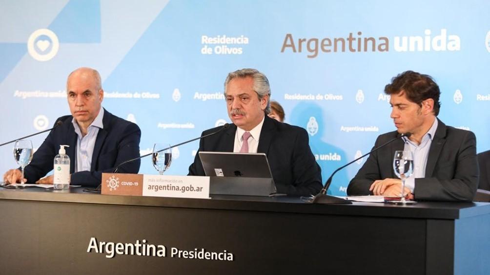 El Presidente anunció la extensión del aislamiento en el AMBA y la fase 4 para el resto del país