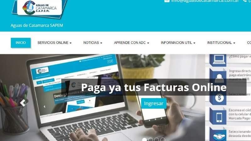 Aguas de Catamarca presentó una nueva modalidad de pago de facturas online