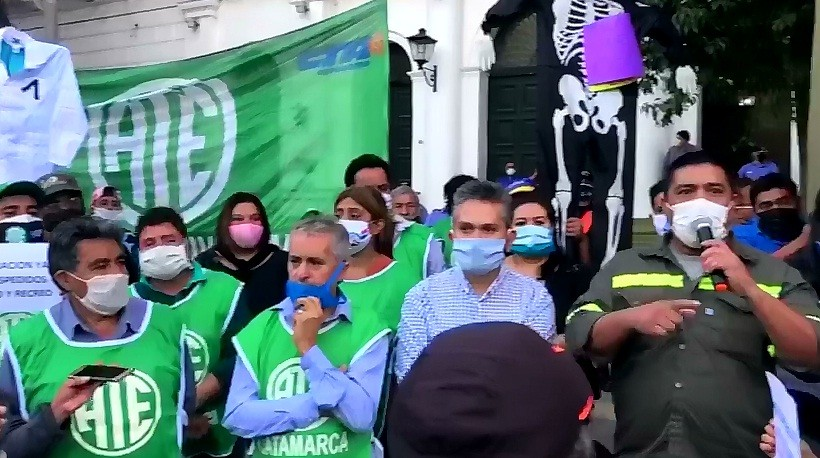 Marcha contra la reforma: Walter Arévalo le agradecío al Diputado Hugo Grillo Ávila