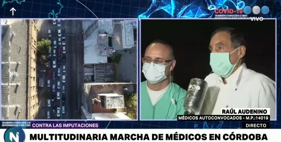 En fotos: la masiva convocatoria en la marcha de los médicos cordobeses