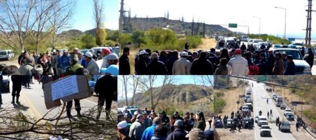 Municipales de Puerta de San José Continúan con El Corte de Ruta