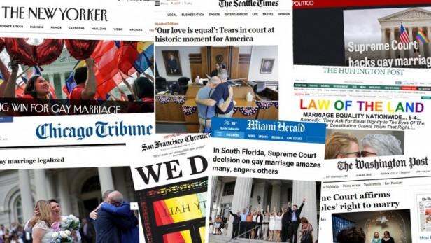 Los Medios de Estados Unidos celebraron la Aprobación del matrimonio gay en todo el país