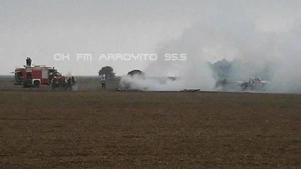 Accidente aéreo en Córdoba cayó una avioneta murieron dos personas