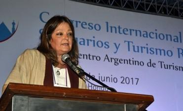 Natalia Ponferrada en el 1er Congreso Internacional de Santuarios y Turismo Religioso