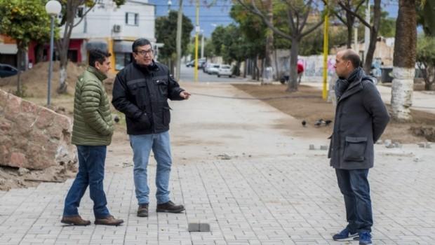 Avanza la obra de recuperación de la plaza de Villa Cubas