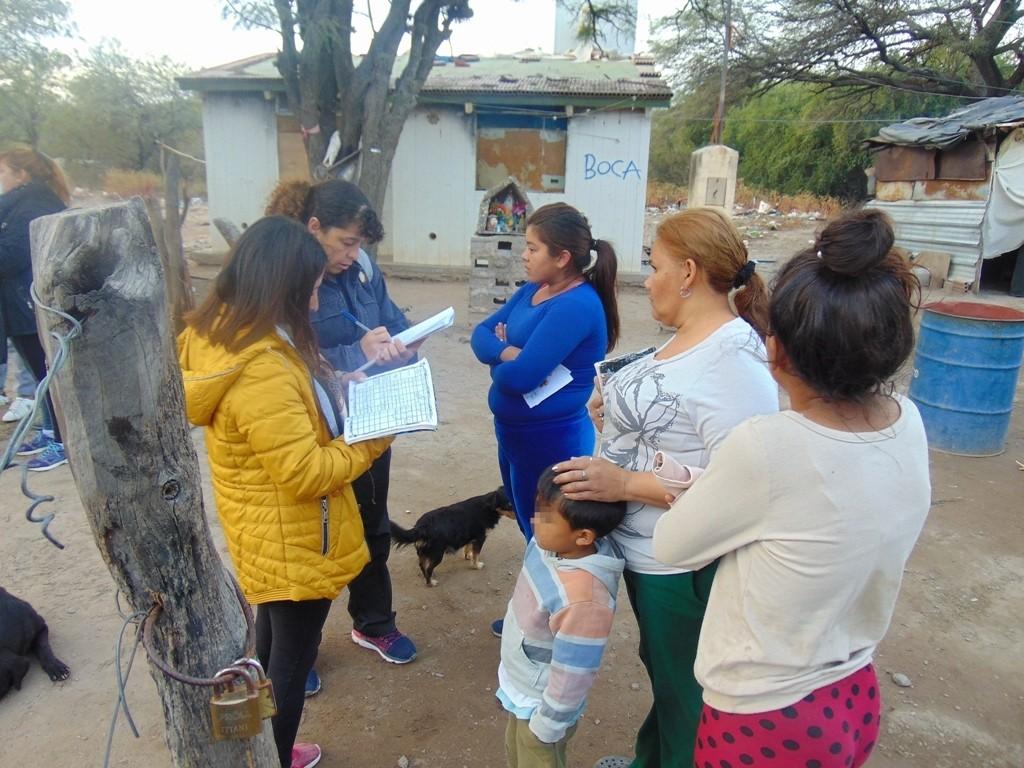Control sanitario a vecinos del barrio Ongolí