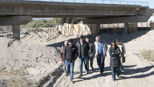 40% de avance de obra del Puente de la Ruta Nº 33