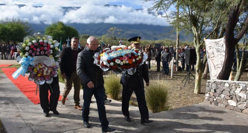Recordaron a Felipe Varela en Valle Viejo