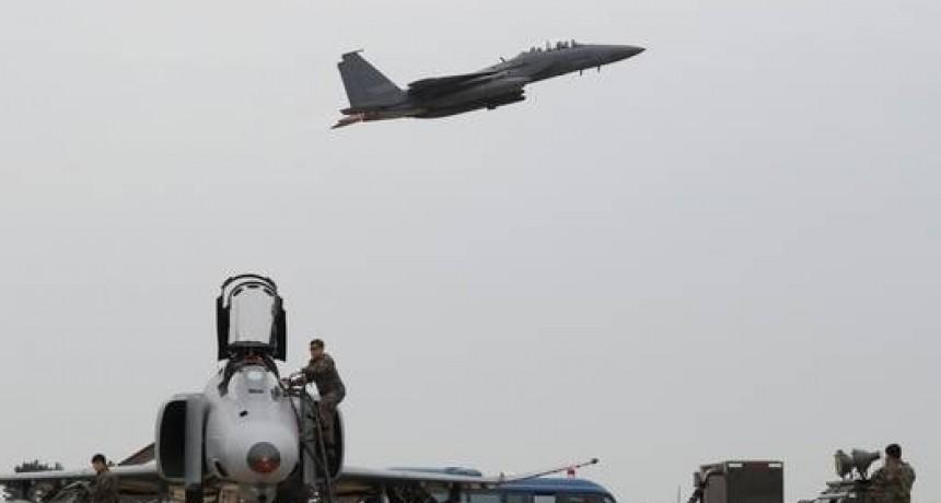 Cayó al mar un avión F15 de los Estados Unidos