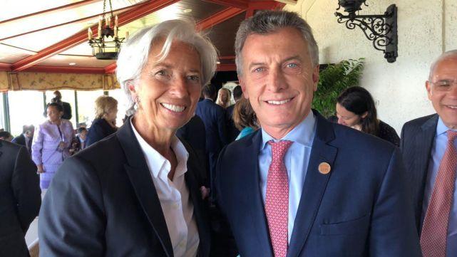 Tras el acuerdo con el FMI, Macri se sacó una foto con Lagarde