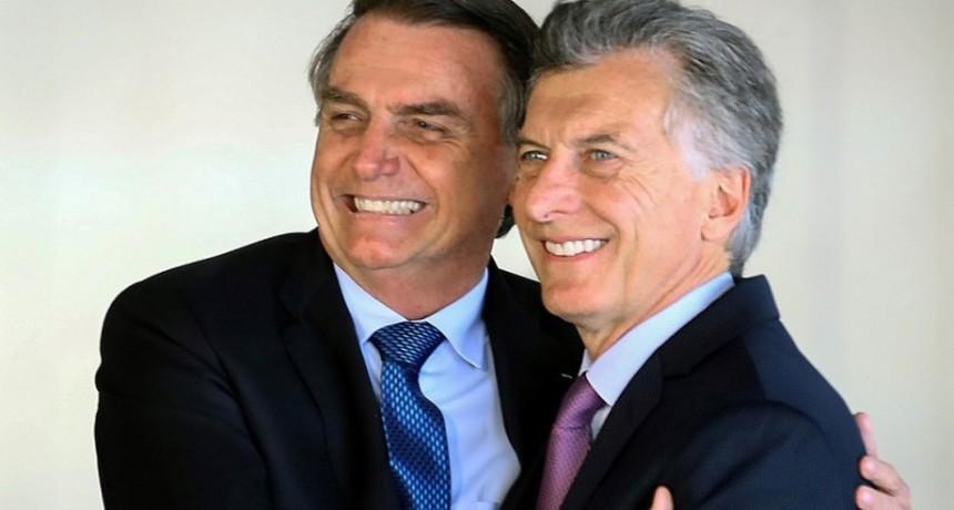 En plena campaña electoral, Mauricio Macri recibe hoy a Jair Bolsonaro