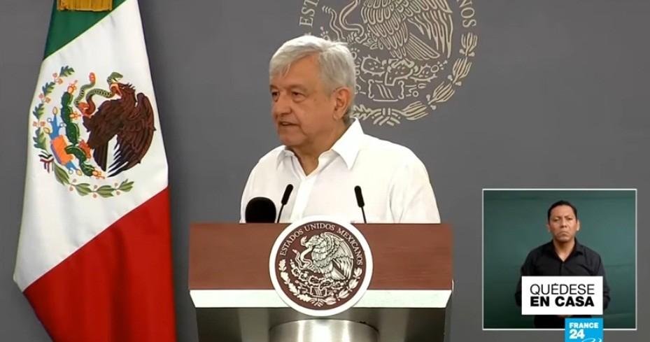 Presidente de México recomienda no mentir, no robar y no traicionar para evitar contraer Covid-19