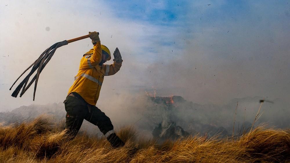 Cerro Ancasti hoy se espera contener la totalidad del incendio