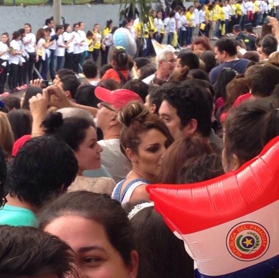 Vicky Xipolitakis, vio de lejos al Papa Francisco en Paraguay