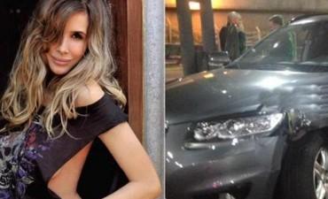 Guillermina Valdés se accidentó cuando manejaba su camioneta