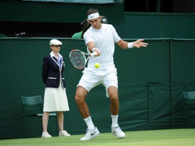 Wimbledon: Triunfazo de Del Potro ante Wawrinka