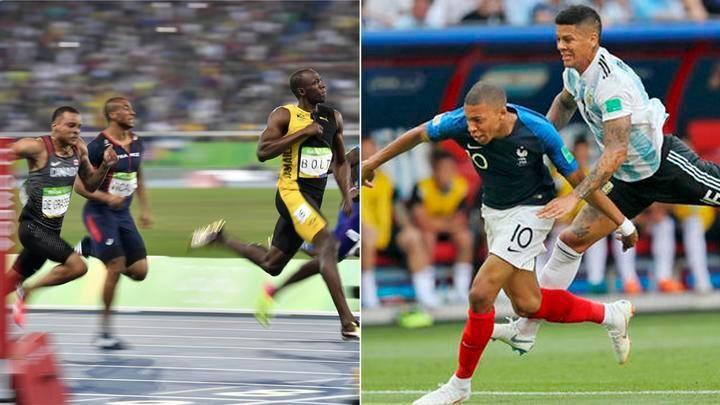 Mbappé superó velocidad de Usain Bolt