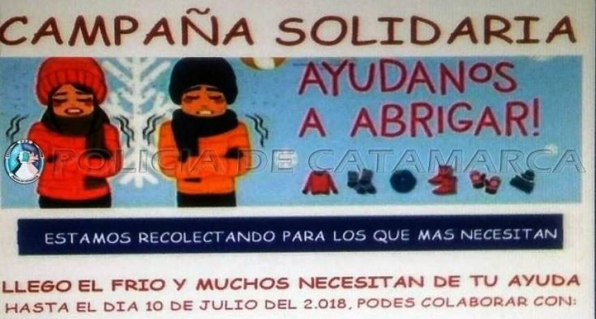 "Policías realizan campaña solidaria Ayudemos a Abrigar"""