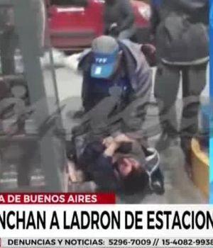 Playero molió a golpes a ladrón que le gatilló dos veces en estación de servicio