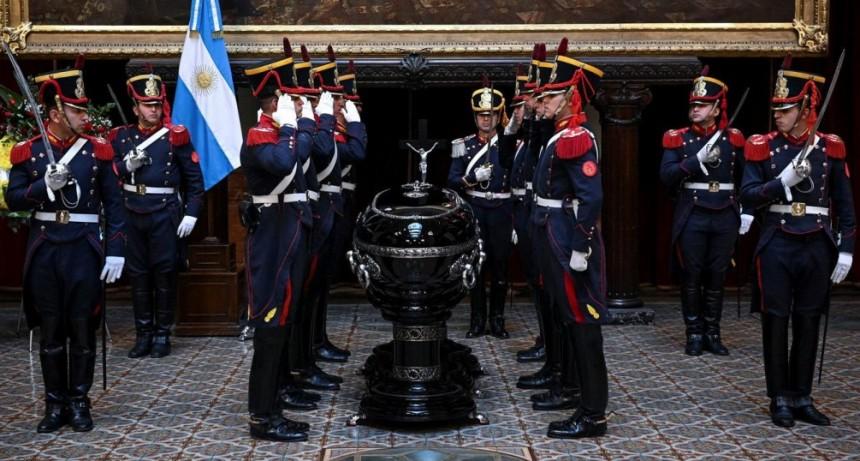 Despiden al expresidente Fernando de la Rúa en el Congreso Nacional