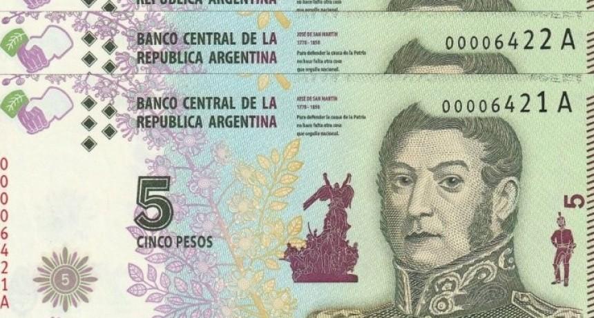 Adiós a los billetes de 5 pesos: BCRA anunció que saldrán de circulación