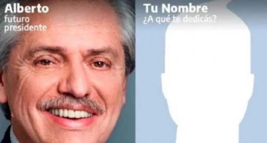 """Campaña tecnológica: El Frente de Todos lanzó una app para que sus votantes puedan tener """"Su afiche con Alberto"""