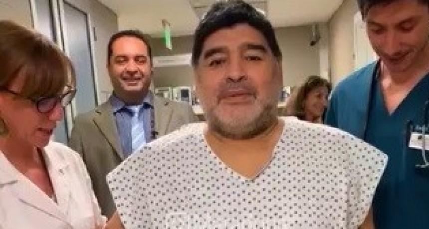 Maradona se recupera: hoy volví a caminar como cuando tenía 15 años