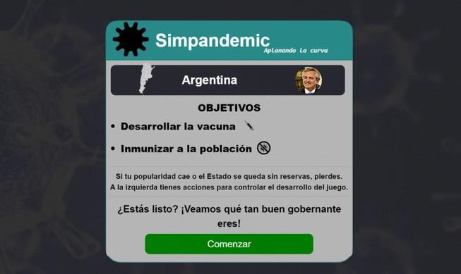 'Simpandemic': jugá a ser Alberto Fernández y controlá a la Argentina en la pandemia