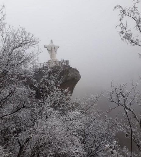 Cayó nieve en varias localidades de la provincia