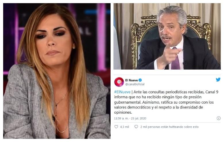 Polémica: Canal 9 se despega de las denuncias de Canosa contra el Presidente