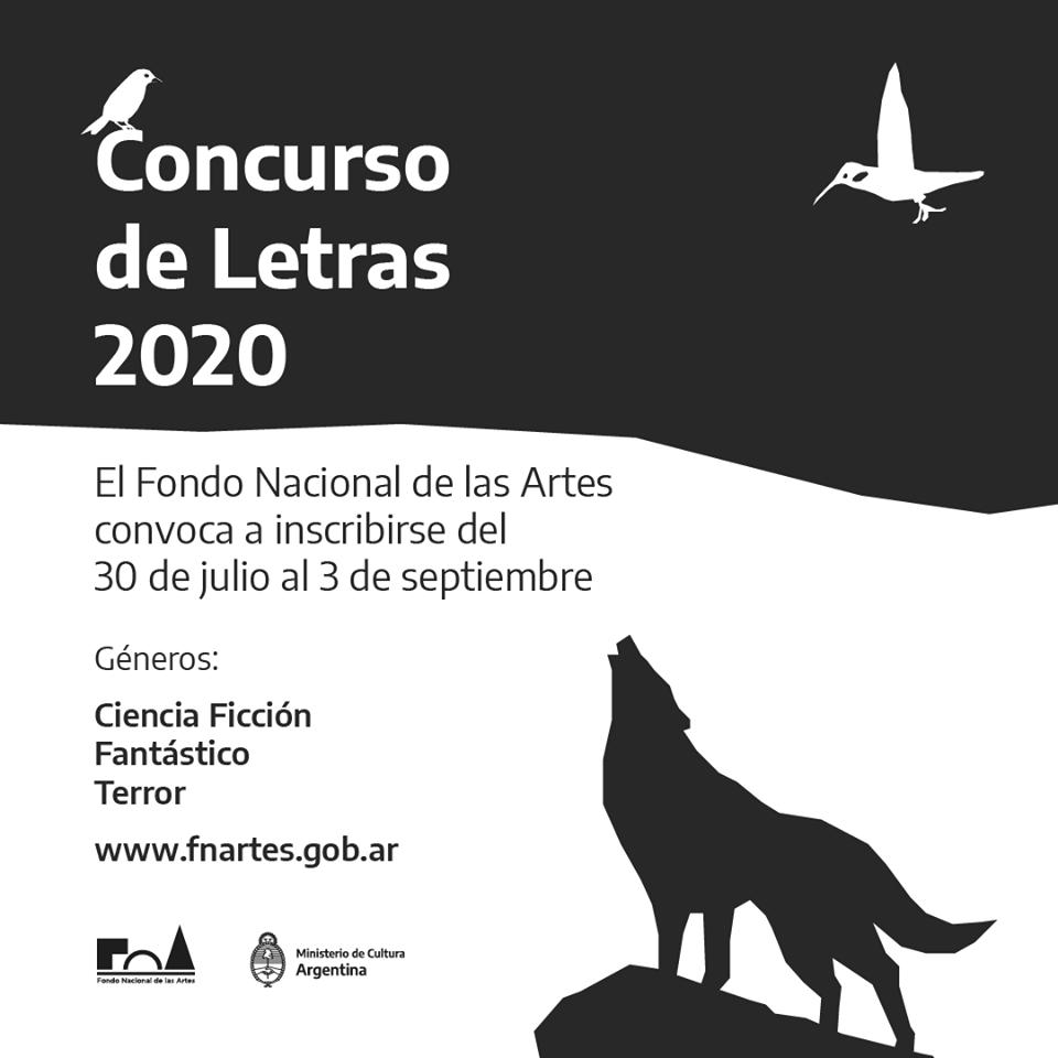 Concurso de Letras 2020 del Fondo Nacional de las Artes