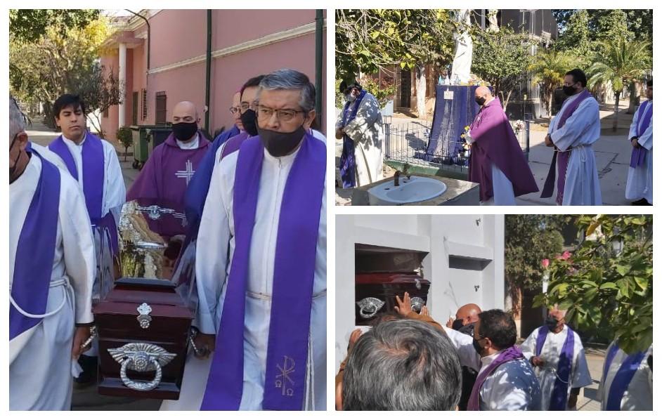 """Los restos mortales del Padre """"Panchito""""  Rojas descansan en el panteón del clero"""