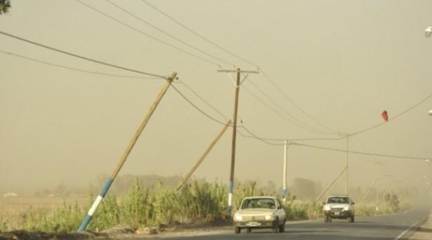Por los fuertes vientos, Belén se quedó sin energía eléctrica