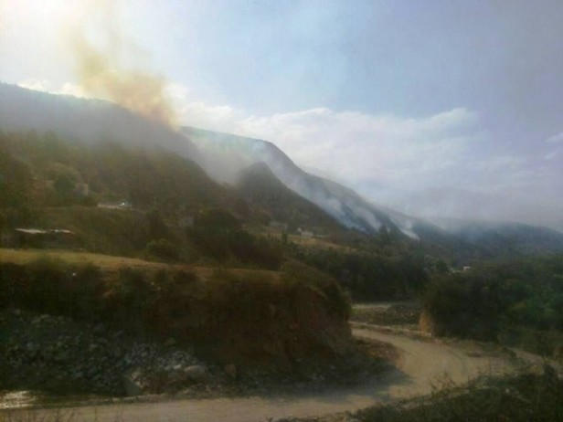 Incendio forestal en Aconquija
